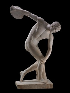 Discobolus: Marble statue of a discus-thrower (discobolus) by Myron. Roman copy of a bronze Greek original of the 5th century BC. © The Trustees of the British Museum